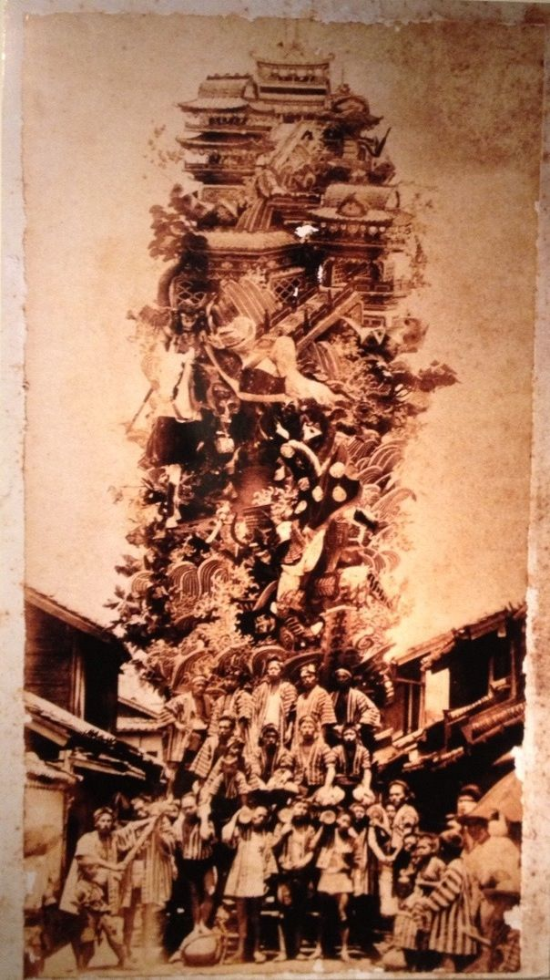 尾道天神祭山車 弘化元年(1844) ONOMICHI TENJIN MATSURI a float; a dashi Floats are brought out to celebrate the festival.