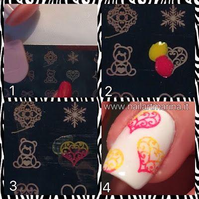 Tutorial su come utilizzare lo stamping per creare disegni di due colori sulle unghie.