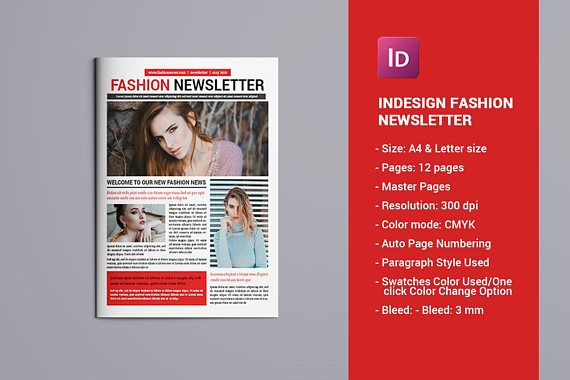 Fashion Newsletter Business Newsletter Template  12 pages
