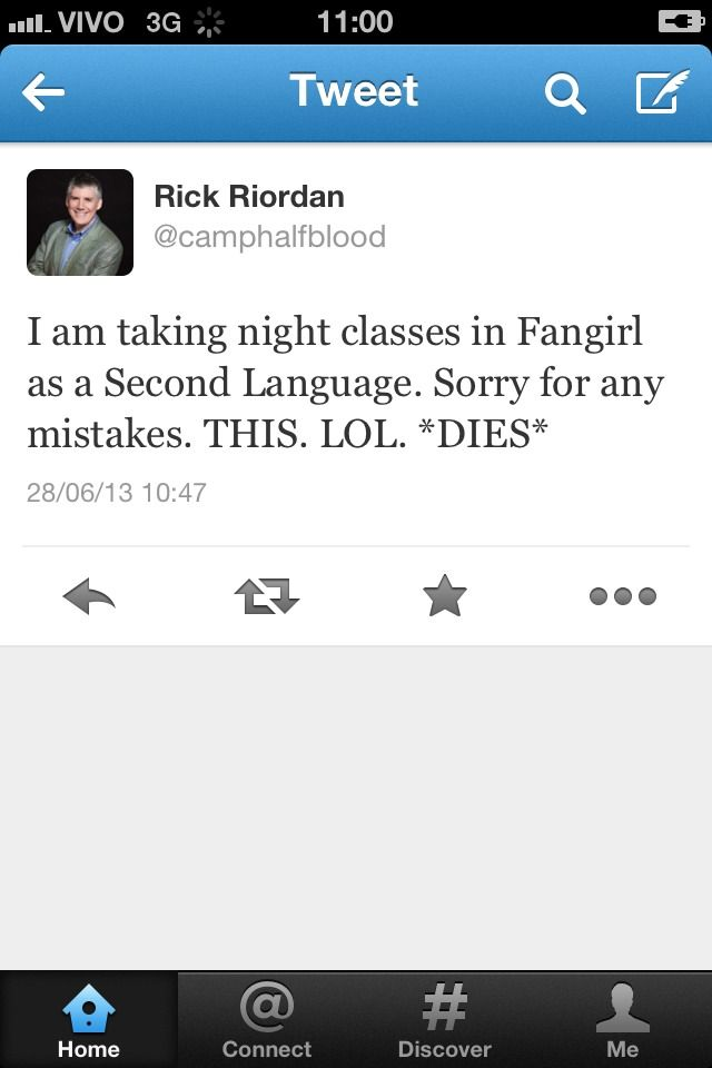 """Today in """"Rick Riordan Is Better Than You."""" Good for you, Uncle Rick!"""