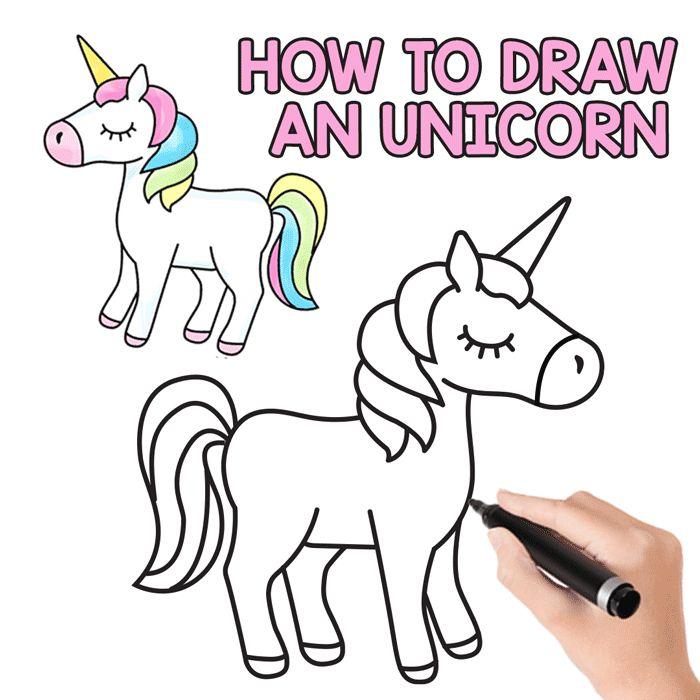 unicorn easy drawing drawings beginners draw step tutorial cartoon fairy sketch steps kid things kawaii peasy tutorials simple fun sketches