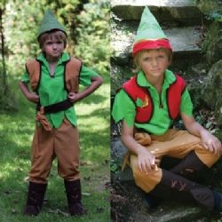 Great reversible outfit can be used for Robin Hood, elf or even as my boys have discovered, makes a great Link (Legend of Zelda) costume too!