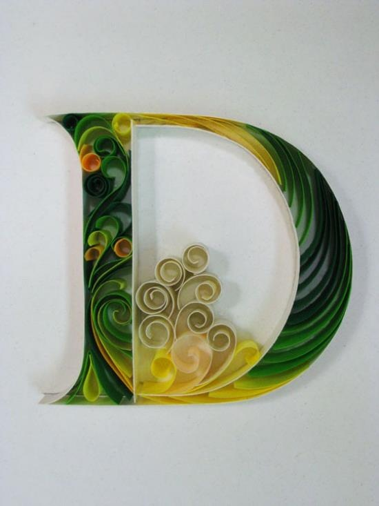 """Paper Quilling for an End of Life Unit.  D - """"Paper + Typography"""" by Sabeena Karnik / design-dautore.com"""