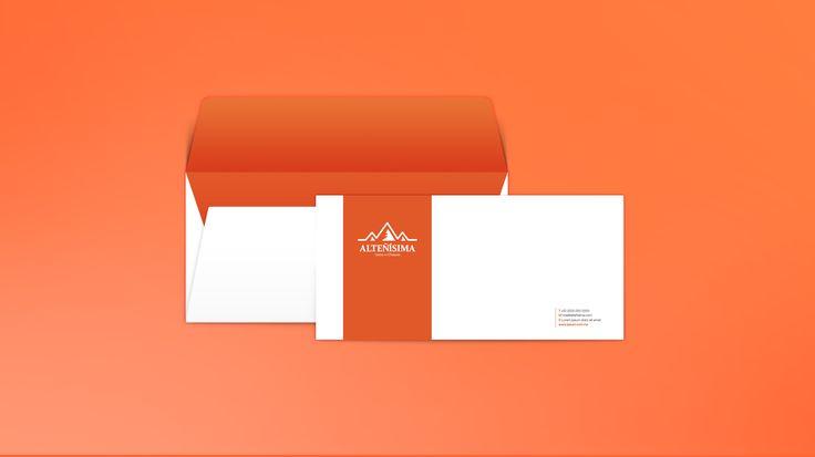 Diseño gráfico de Sobre Membretado | imagen corporativa de Alteñísima ® Marca IMPI 2015