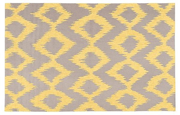 One Kings Lane - Global Inspirations - Baron Flat-Weave Rug, Lemon