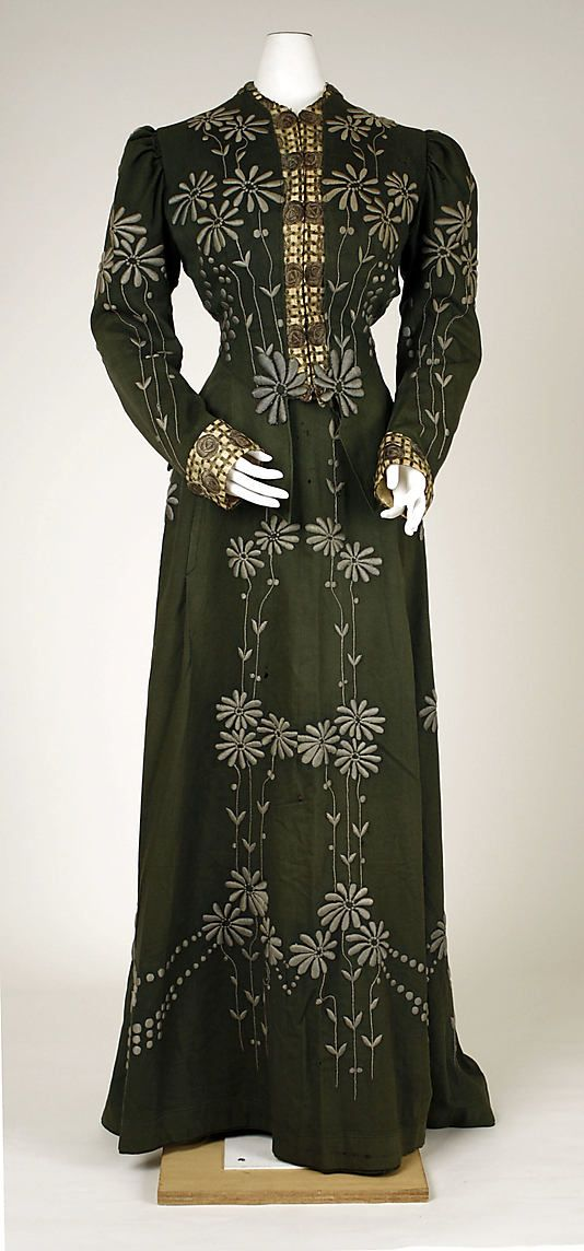 Dress 1901, American, Made of wool: Edwardian Fashion, Edwardian Era, Wool Dresses, Met Museums, Vintage Fashion, Historical Fashion, 1900 1910, 1900 S, Metropolitan Museums
