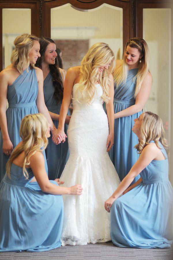 Long beach glam loft wedding blue dresses loft wedding for The loft wedding dresses