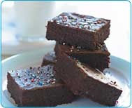 Brainy Brownies, have spinach and blueberries in them and taste amazing! From the site www.thesneakychef.com LOTS of smart kid friendly recipes that are healthy and they won't know it! Made these in my cooking class in high school, loved them :)