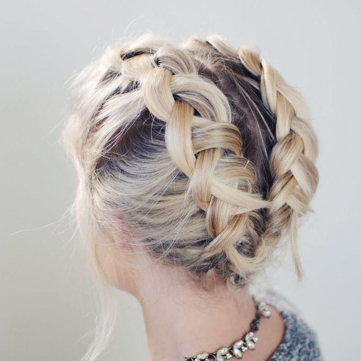 17 Best Ideas About Braiding Short Hair On Pinterest