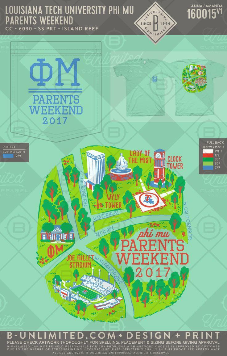 Mapping out the weekend! Louisiana Tech- Phi Mu #BUonYOU #greek #greektshirts #greekshirts #sorority #PhiMu #Parentsweekend