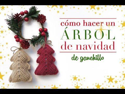¡No podía faltar un árbol de Navidad! Hoy hacemos un árbol de ganchillo que queda precioso tanto para colgar del árbol de Navidad como para hacer una guirnal...