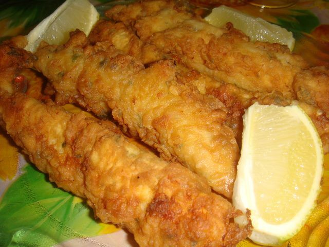 tiritas de pescado frito