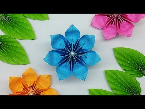 Diy Easy Paper Flowers Tutorial How To Make Paper Flower Youtube