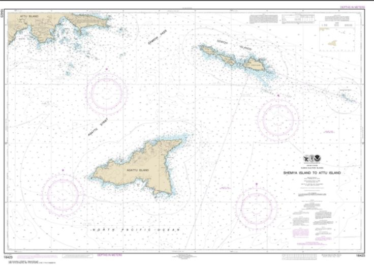 Shemya Island to Attu Island Nautical Chart (16423) by NOAA