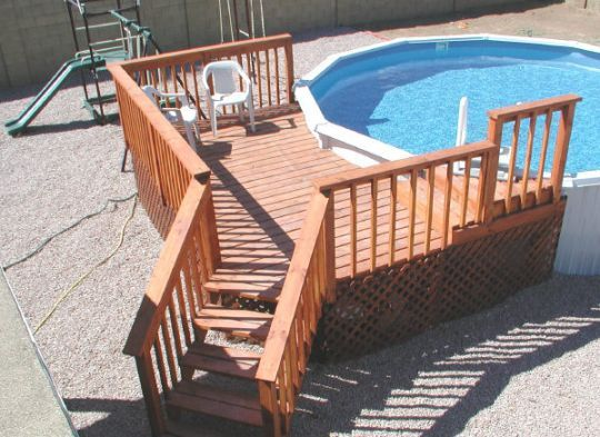 1000 ideas about above ground pool decks on pinterest for Pool design deck
