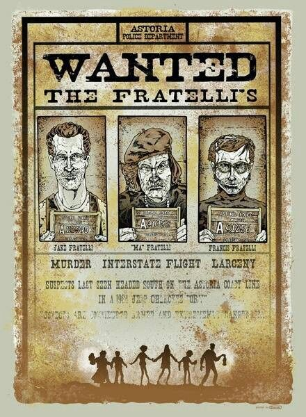 #awesome #goomies wanted poster #movie favorita de peque =)