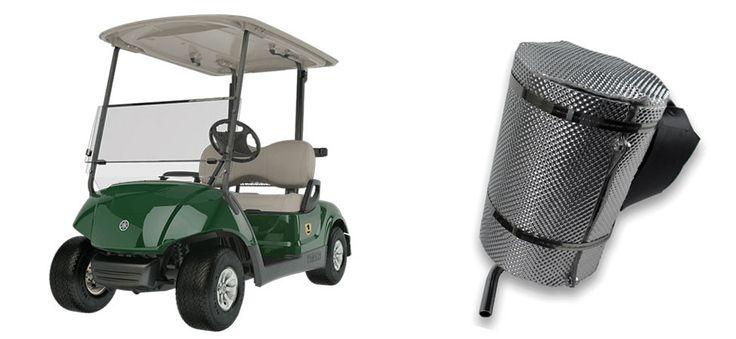 Add-on DEI Muffler Shield for Yamaha® Golf Carts