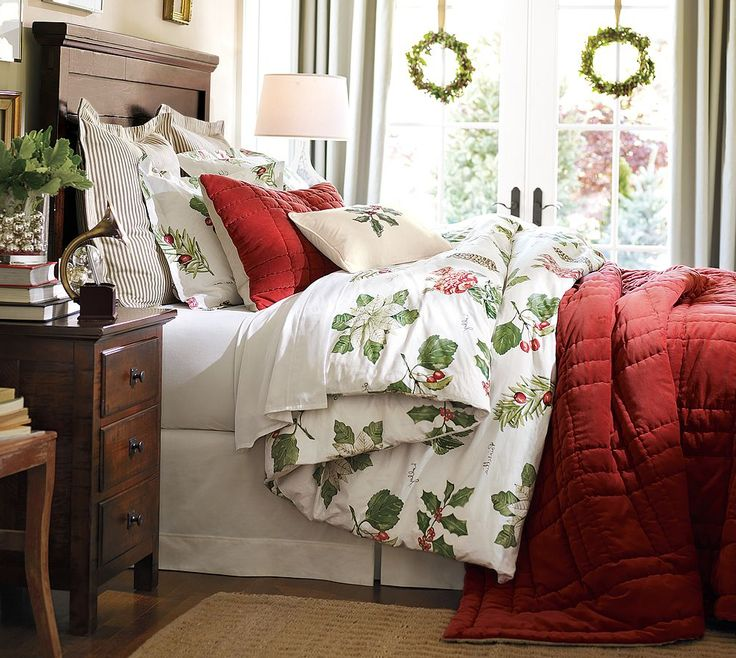 Holiday bedding and winter bedding designs by Joan Nahurski.