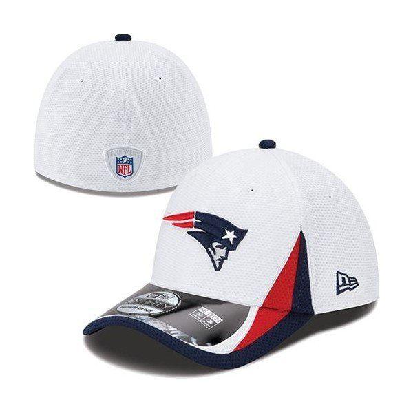 New England Patriots New Era NFL 2013 Training 39Thirty Flex-Fit Hat-White