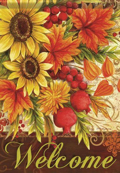 Sunflowers and Pomegranates