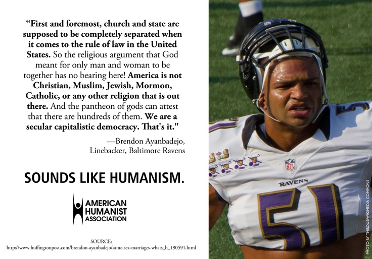 The latest in our Sounds Like Humanism campaign is from Brendon Ayanbadejo of the Baltimore Ravens.