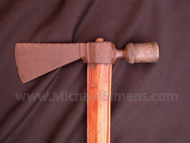 ANTIQUE PIPE TOMAHAWK FOR SALE - HISTORICAL ARMS The pictures on this fine hawk…