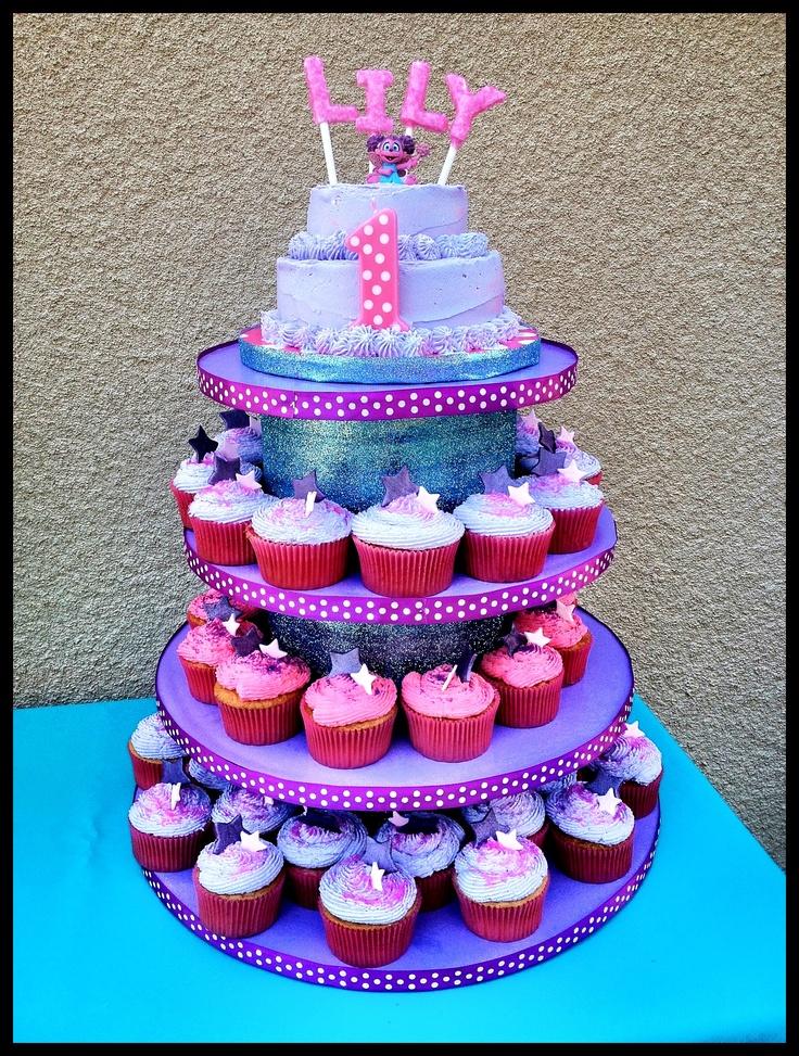 Abby Cadabby Cupcake Smash Cake Stand Display Custom