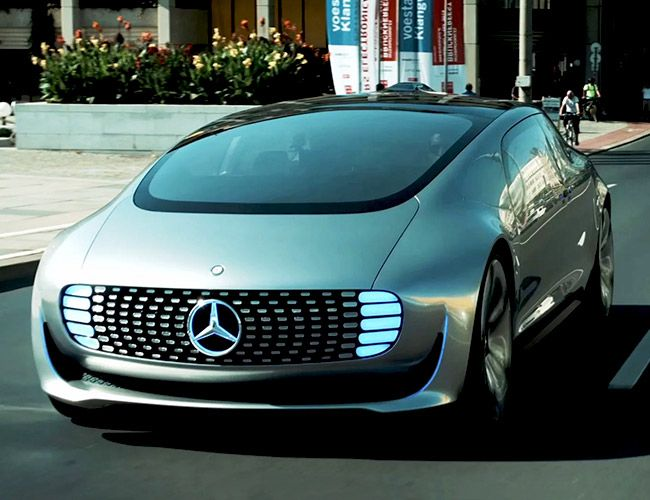 A GLIMPSE INTO THE FUTURE AT ARS ELECTRONICA Mercedes-Benz Reimagines Commuting with a Self-Driving CarThe Ars Electronica Futurelab X Mercedes-Benz F 015 Luxury in Motion vehicle (designed over 2 years) is a beautiful as it is awe-inspiring.