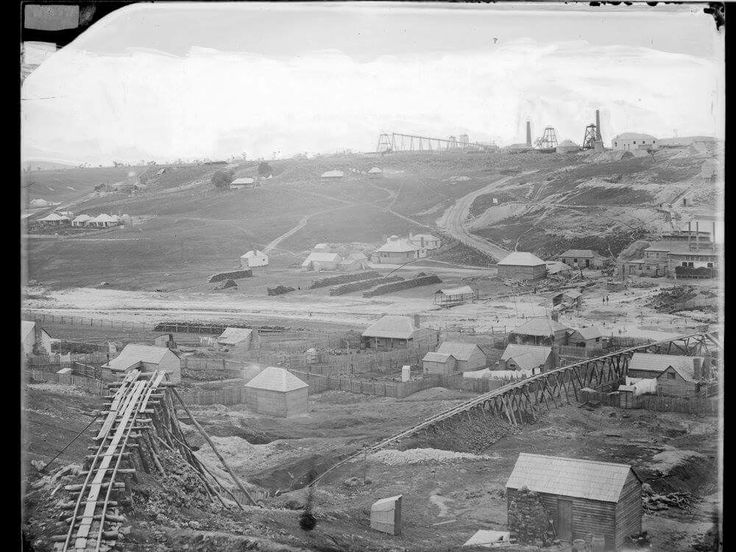 Port Phillip and Colonial Gold Mining Co., Clunes, c. 1861. Photographer: Richard Daintree. Amazing photo. State Library of Victoria Image H32086.