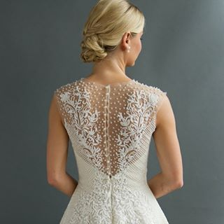 Because the exit view is just as important as the entrance view. @sabrinadahan #weddingdresses