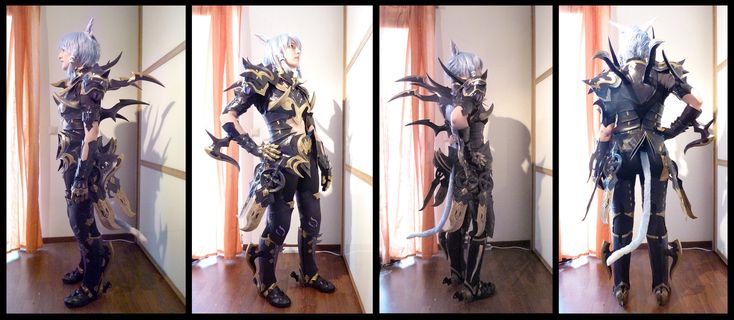 Cosplay Foam Armor | FFXIV Dragoon Cosplay Armor Update by Evil-Siren