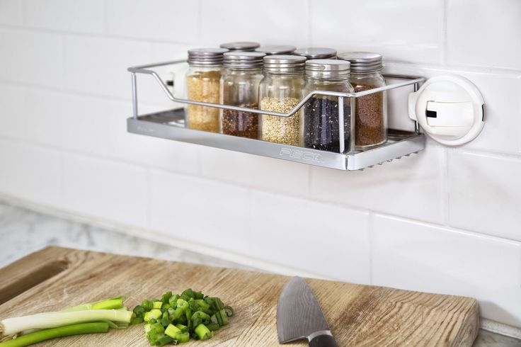 No Drilling Mountable Stainless Steel Rack with Powerful Suction Cup for Bathroom/Kitchen Shelf