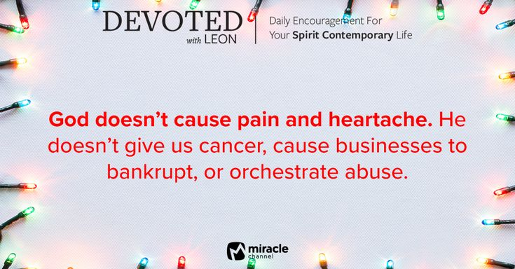 December 19 - Does God Orchestrate Pain? #MiracleChannel #Devoted #December