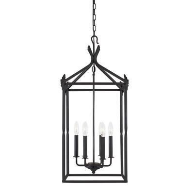 World Imports Hastings Collection 6-Light Rust Hanging Pendant - DEC