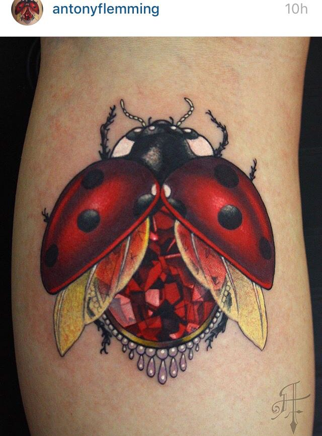 Ladybug Tattoo | #Sleeve #Inspiration