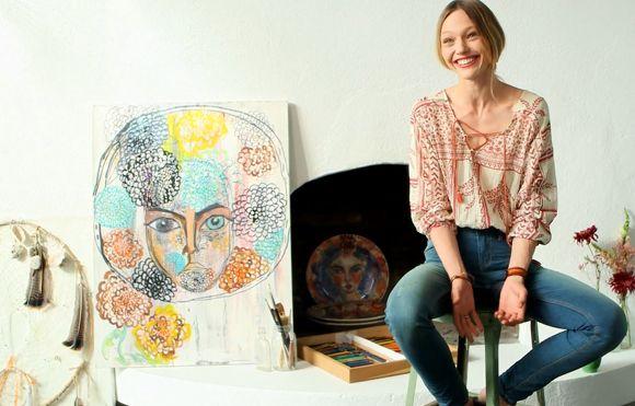From Free People Blog, Russian Model And Artist sasha-pivovarova