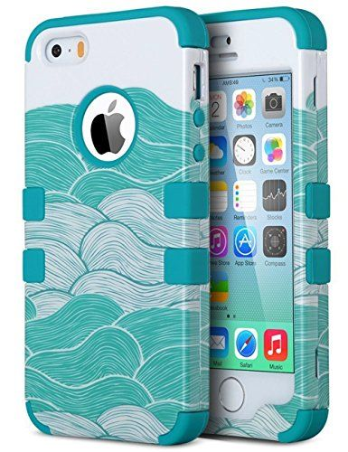 iPhone SE Case, iPhone 5S Case, ULAK Anti Slip iPhone 5 C...