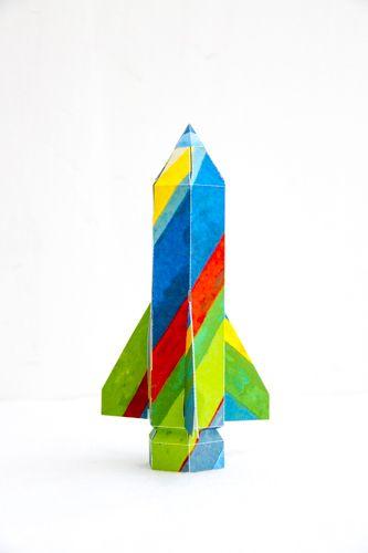 Hand craft Rocket of Chikyu Nasa Randoseru  #design #masatoshioka #paper #logo  #rocket #craft #handmaid #branding #fab