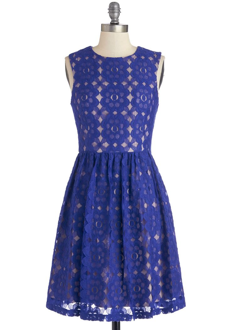 Outdoor Arpeggios Dress in Royal Blue. What could be more idyllic than hearing lilting melodies drift through the tree tops? #blue #modcloth