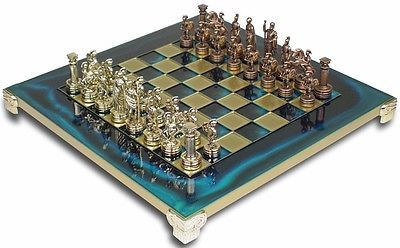 #Luxury #large 44cm x 44cm metal chess set #archers mythology elegent wooden case,  View more on the LINK: http://www.zeppy.io/product/gb/2/291661475658/
