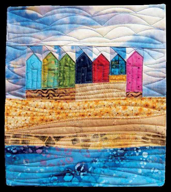 17 Best Images About Quilts With Beach Huts And Seascapes