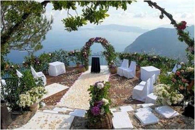 Chateau de la Chevre d'Or Wedding Ceremony