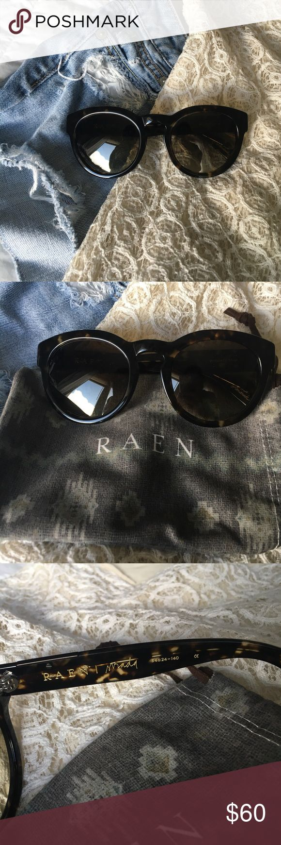 Raen Tortoise Sunglasses Brand new Raen Tortoise sunglasses! Worn once... bought a black pair and tortoise pair, like black better! Superb quality and acetate with these sunglasses. In perfect conditon. Comes with Raen case (shown in listing pictures) 🌸✌🏻 Raen Accessories Sunglasses
