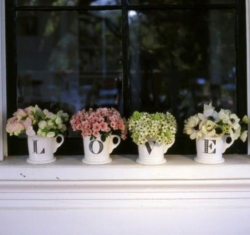 pretty and a lovely idea for using mugs