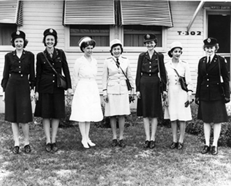 "The service and dress uniforms worn in the US Army Nurse Corps in WWII. In ""A Memory Between Us,"" Lt. Ruth Doherty serves as a nurse in England ~"