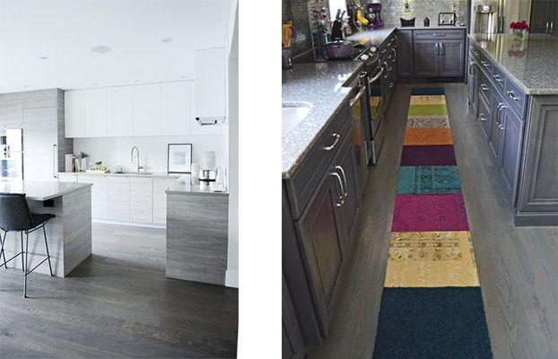 Greywashed-Floors - Grey Kitchen Floor Ideas