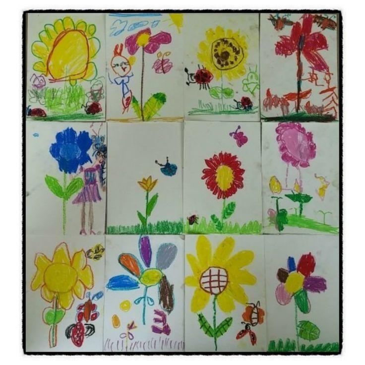 주제:봄을  표현해요 꽃  그려보기...