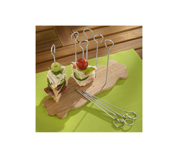 Servírovací prkénko se špízovými jehlami | vyprodej-slevy.cz #vyprodejslevy #vyprodejslecycz #vyprodejslevy_cz #home #kitchen #kuchyn #doplnky