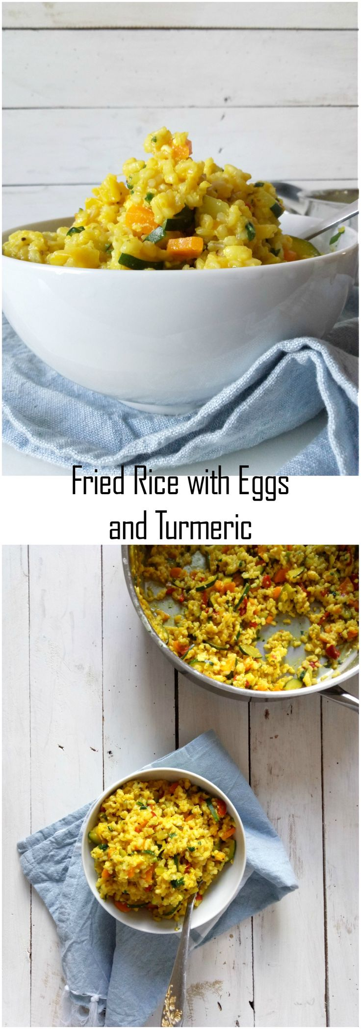 Fried Rice with Eggs and Turmeric #friedrice #delicious #ricerecipes