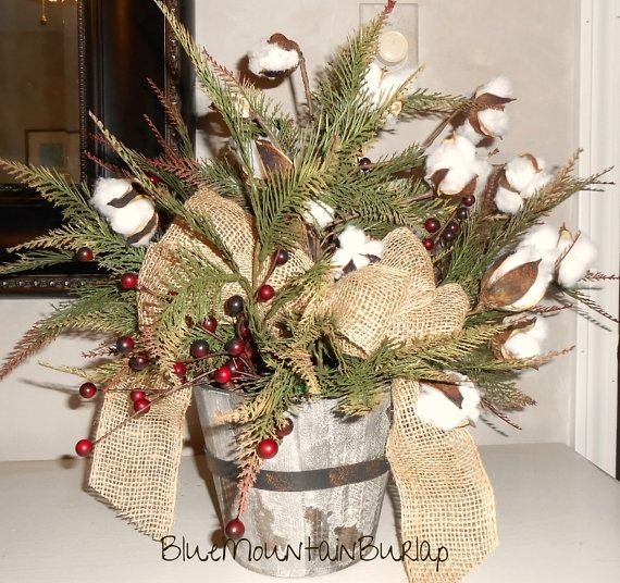 Best crafts burlap centerpieces images on pinterest